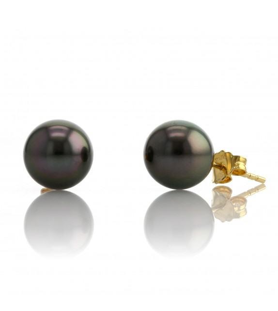 Boucles d'oreilles perles de Tahiti 8-9 mm Or jaune 750/00