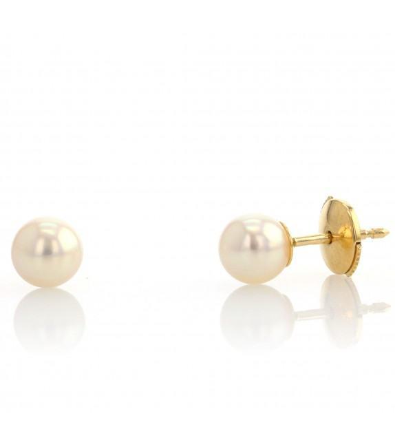 Boucles d'oreilles perles du Japon 5,5-6 mm Or jaune 750/00