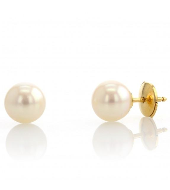 Boucles d'oreilles perles du Japon 7-7,5 mm Or jaune 750/00