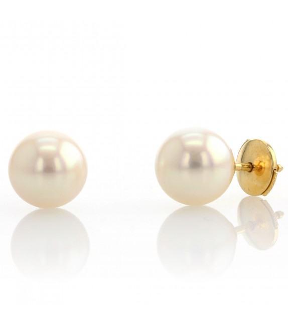 Boucles d'oreilles perles du Japon 8-8,5 mm Or jaune 750/00