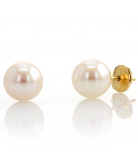 Boucles d'oreilles perles du Japon 8,5-9 mm Or jaune 750/00
