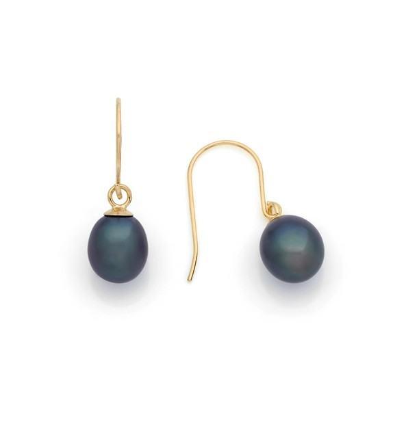 Boucles d'oreilles perles d'eau douce 6 mm or jaune 375/00