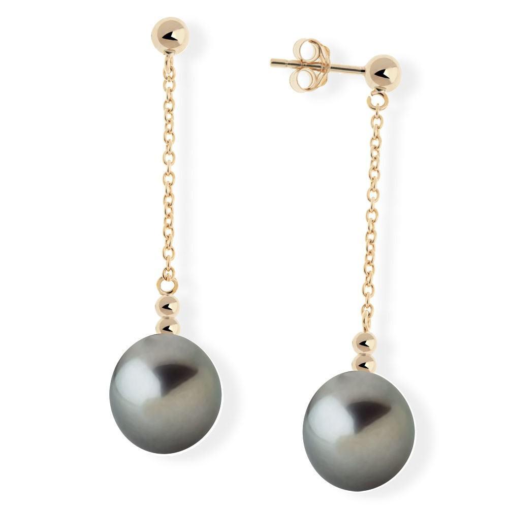 boucle d'oreille perle tahiti