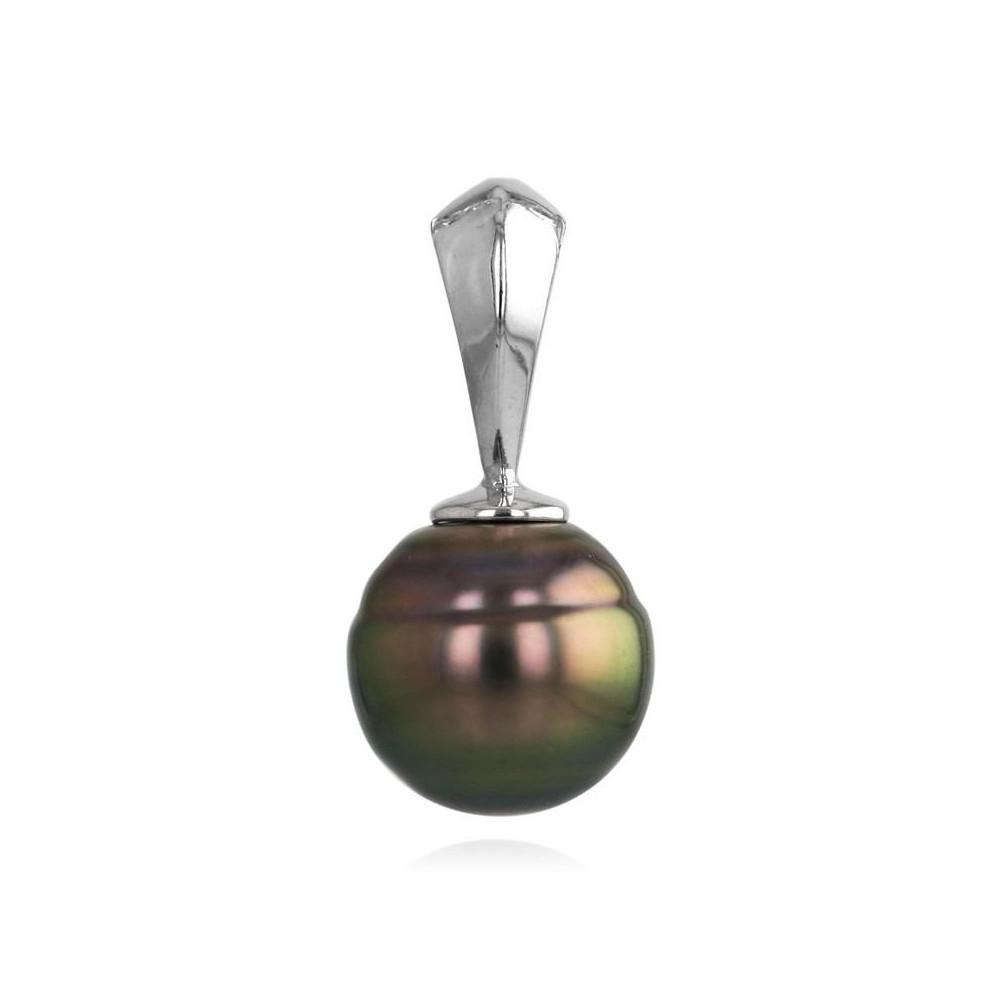Pendentif perle de Tahiti 9 mm argent 925/00