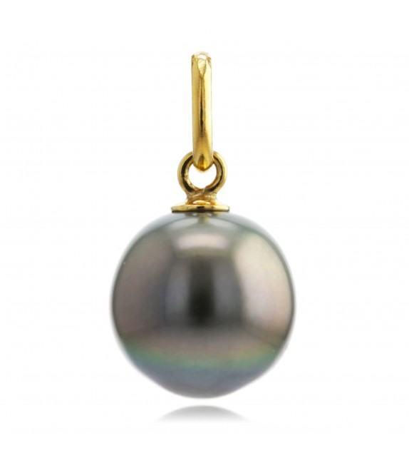 Pendentif perle de Tahiti 9 mm or jaune 375/00