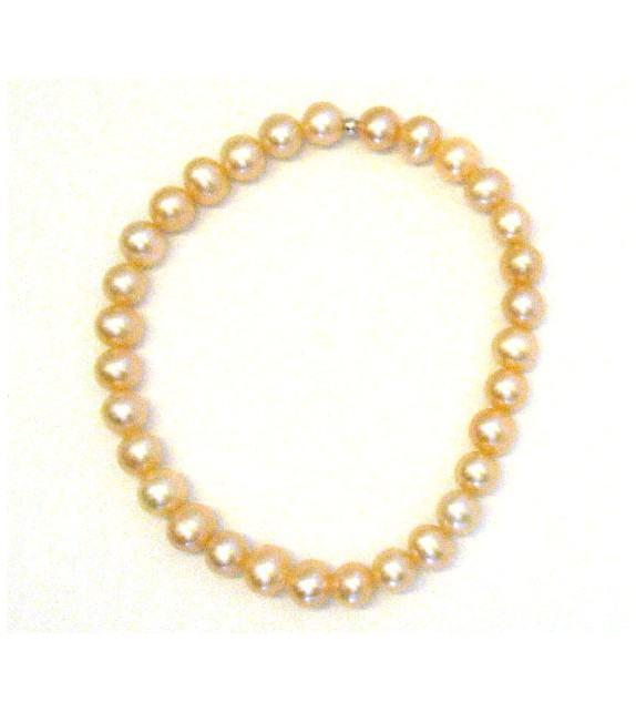 Bracelet élastique perles d'eau douce 6 mm