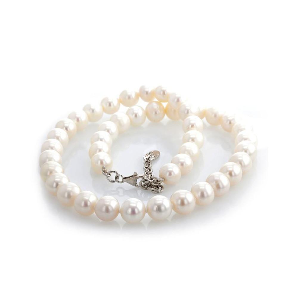 Collier perles d'eau douce 10-11 mm argent 925/00