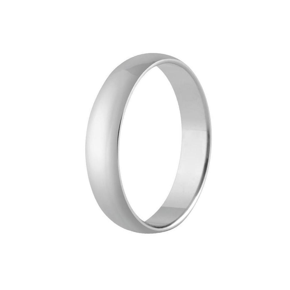 Alliance demi-jonc platine 5 mm