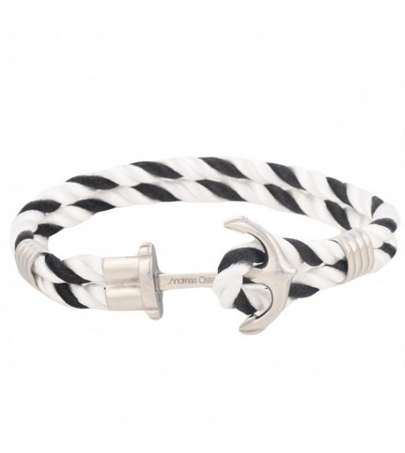 Bracelet mixte Andreas Osten en nylon noir et blanc