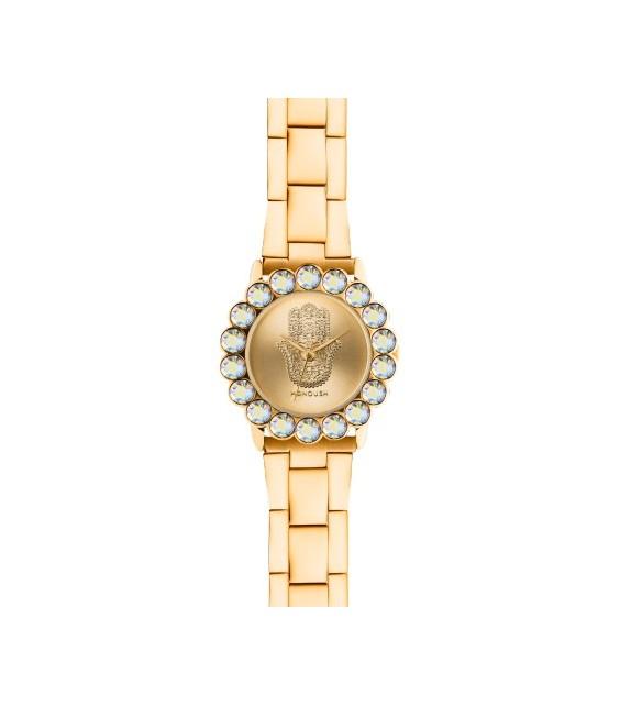 Montre femme Manoush cadran 32 mm en acier doré et bracelet doré en acier