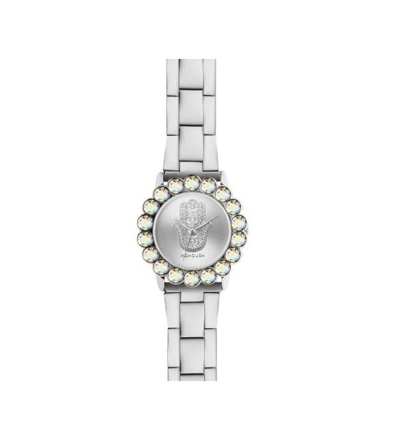 Montre femme Manoush cadran 32 mm en acier argenté et bracelet argenté en acier