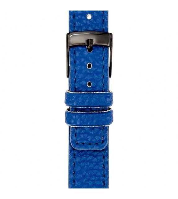 Bracelet mixte La Trotteuse en cuir bleu