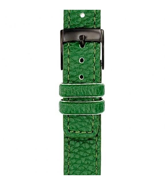 Bracelet mixte La Trotteuse en cuir vert