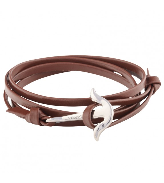 Bracelet mixte Andreas Osten en cuir marron