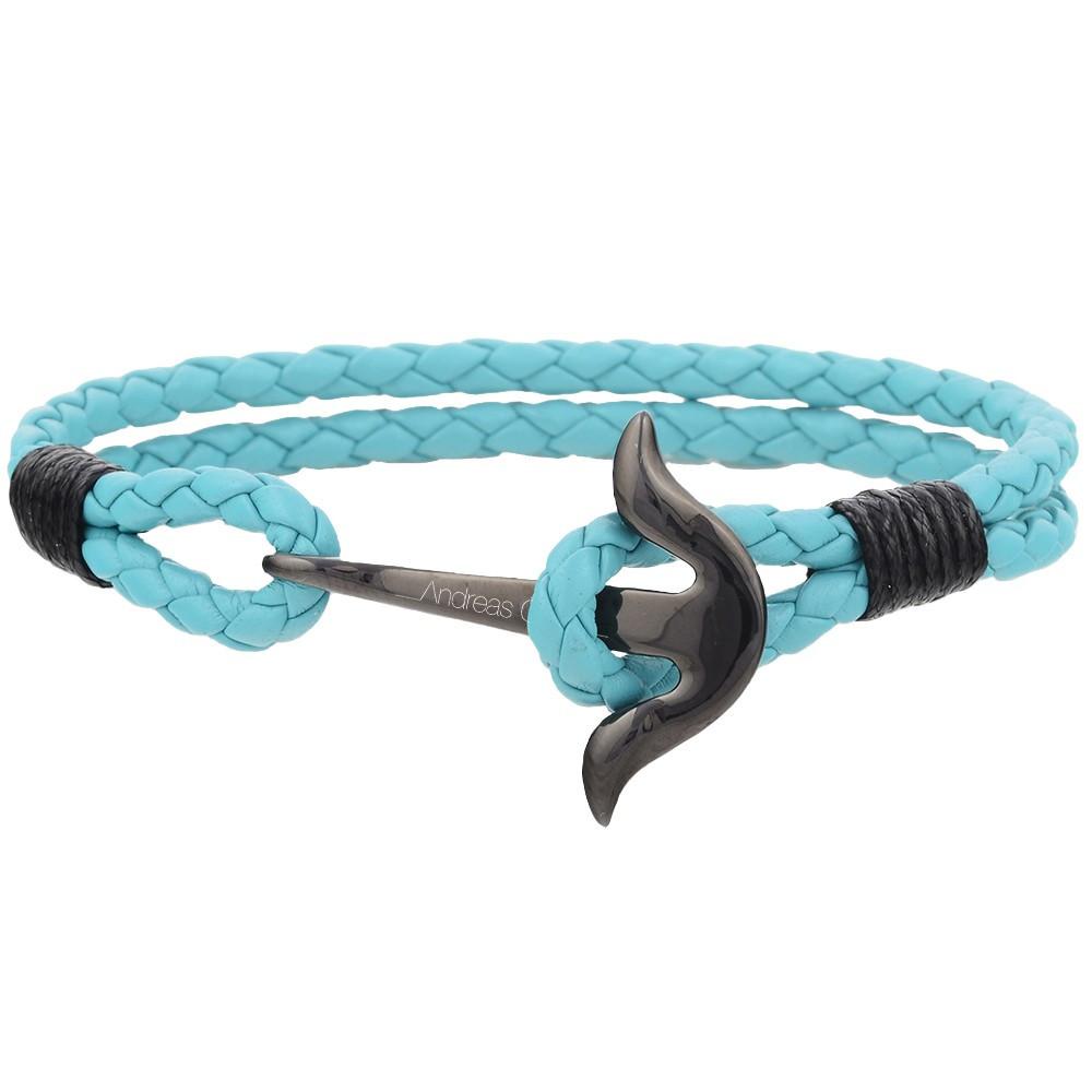 Bracelet mixte Andreas Osten en cuir bleu