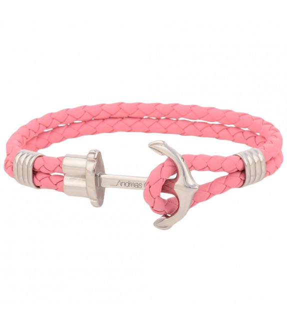 Bracelet mixte Andreas Osten en cuir rose