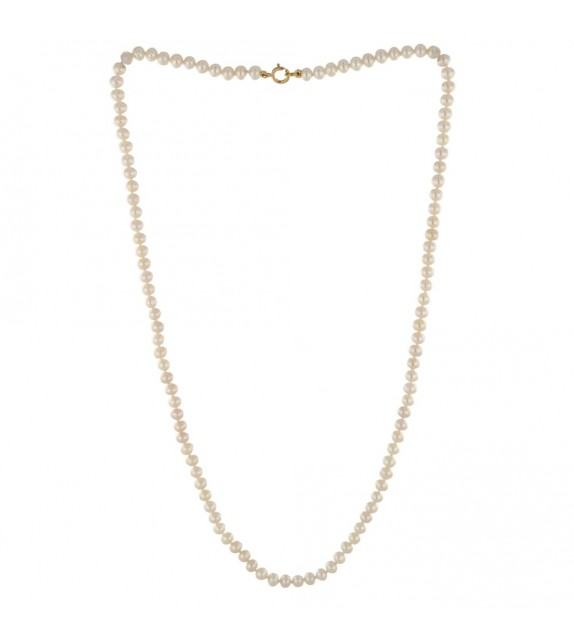Collier perles eau douce Or jaune 750/00